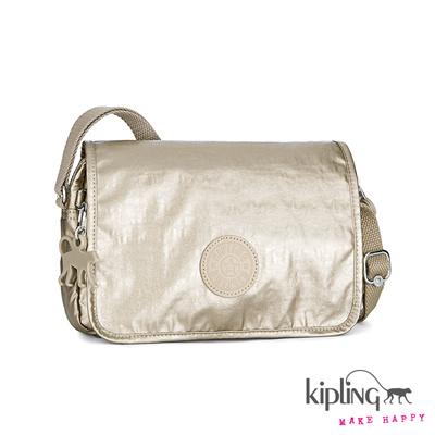 Kipling-香檳金側背包