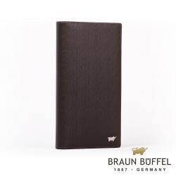 BRAUN BUFFEL - HOMME-M紳士系列極光紋17卡零錢長夾 - 咖啡 情人節送禮