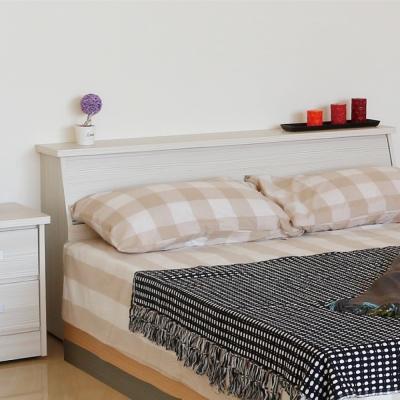 居家生活-威妮妮5尺雪山白色雙人床頭箱-免組