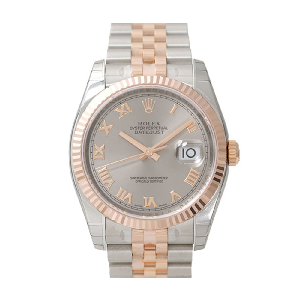 ROLEX 勞力士 DateJust 116231 蠔式恆動玫瑰金日誌型錶-銀面羅馬字/67mm