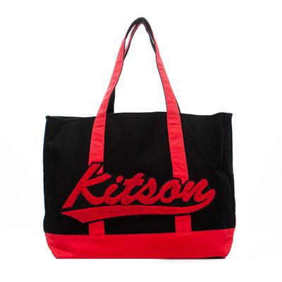 kitson 刺繡徽章船型大托特包-BLACK