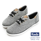 Keds 菱形格紋綁帶休閒鞋(For Kids)-灰色