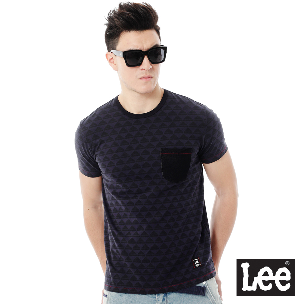 Lee  Regional印花短袖T恤-男款-藍色