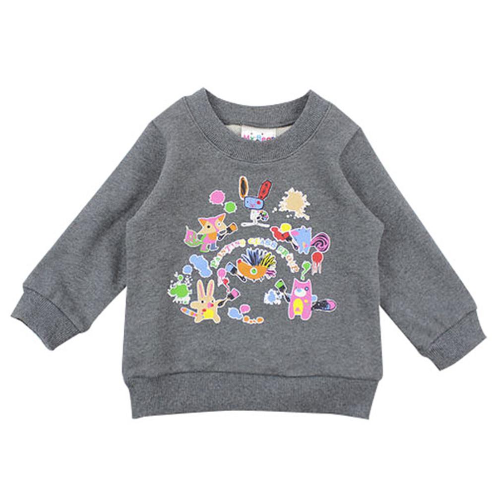 愛的世界 MYBEAR 羅紋領束口長袖上衣/4~8歲