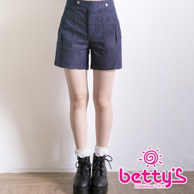 betty's貝蒂思 星星圖案復古短褲(深藍)