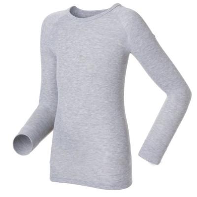 【瑞士 ODLO】effect 兒童.女圓領頂極機能型銀離子保暖內衣/深麻灰