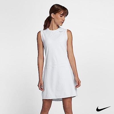 NIKE GOLF 女高爾夫運動連身洋裝裙 白 884937-100
