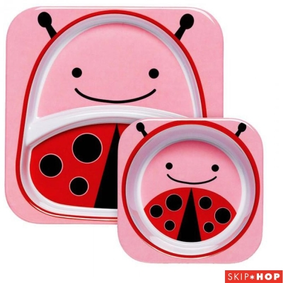 Skip Hop 小瓢蟲款動物兒童餐具組合
