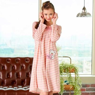 睡衣 精梳棉柔針織 長袖連身睡衣(65206)粉色 蕾妮塔塔