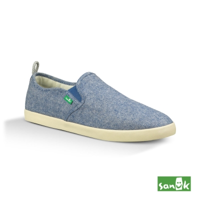 SANUK 素面拉環設計休閒鞋-男款(藍色)