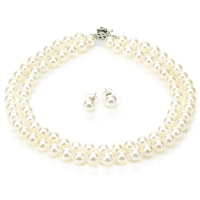 【大東山珠寶】10mm南洋貝寶珠雙串套組(白)