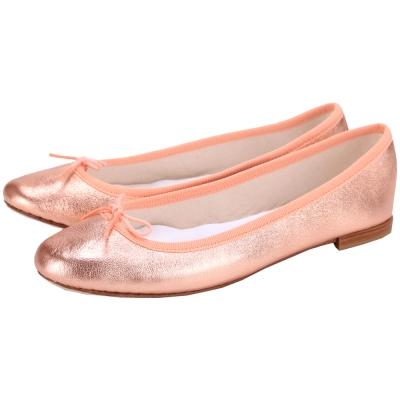Repetto Cendrillon 小羊皮蝴蝶結芭蕾舞鞋(玫瑰金)