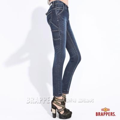 BRAPPERS 女款 Boy Friend Work-女用彈性工作AB褲-藍