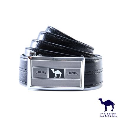 CAMEL - 經典卓越款自動滑扣真牛皮皮帶