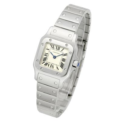 Cartier Santos 經典石英鍊帶女錶-24mm