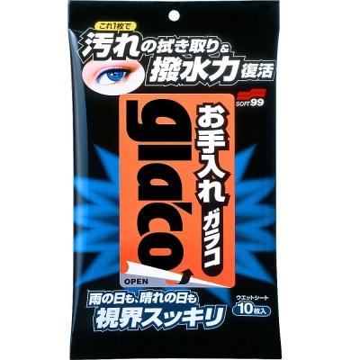 日本SOFT 99 去污雨敵濕紙巾型-快
