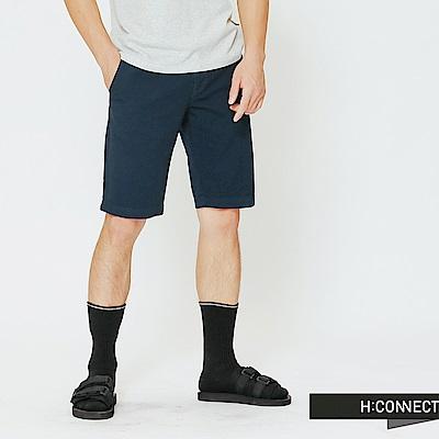 H:CONNECT 韓國品牌 男裝-休閒感修身短褲-藍