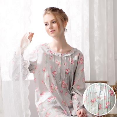 羅絲美睡衣 - 玫瑰心語長袖褲裝睡衣(繽紛綠)