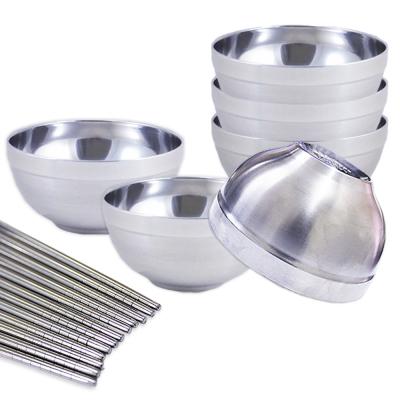 【三零四嚴選】不鏽鋼碗筷組(14cm隔熱碗6個+筷子6雙)
