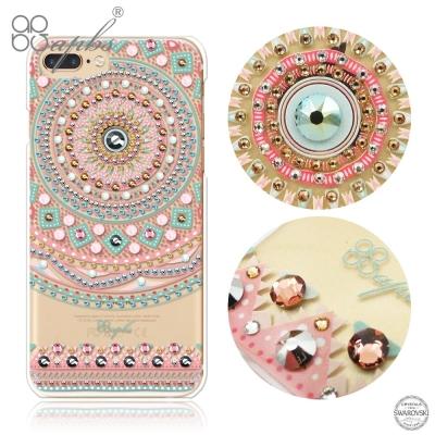 apbs iPhone8/7 Plus 5.5吋施華洛世奇彩鑽手機殼-滿版圖騰