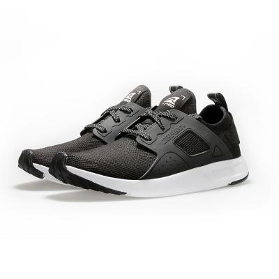 【ZEPRO】男子X3次方系列飛織襪套式休閒鞋-武士黑