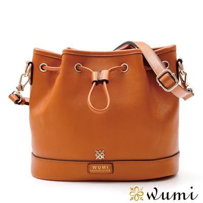 WuMi 無米 貝絲十字紋束口水桶包 夏日橘