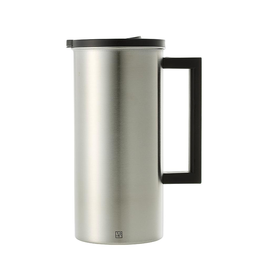 JVR 韓國原裝明星不銹鋼防塵蓋水壺 1.6L (黑)