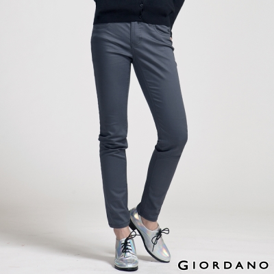 GIORDANO女裝低腰彈力修身窄管褲-30冷灰