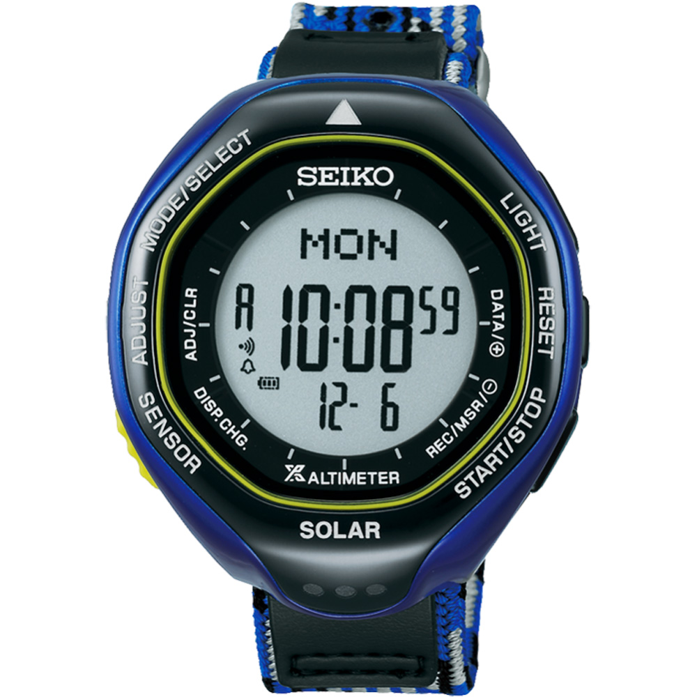 SEIKO PROSPEX Ice Blue 登山電子錶(SBEB041J)-45mm