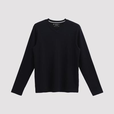 Hang Ten - 男裝 - 經典V領多彩T恤 - 黑