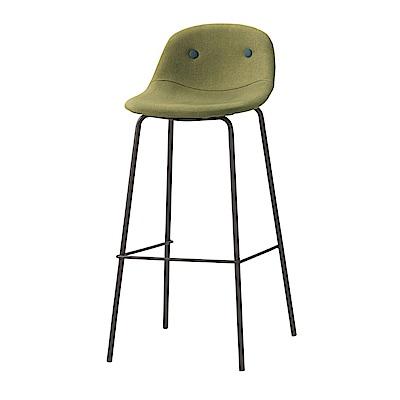品家居 藍達棉麻布吧台椅2入組合(二色可選)-43x44x94cm免組