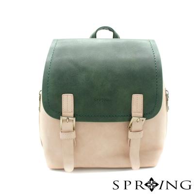 SPRING-祕密日記雙色後背包-綠/粉