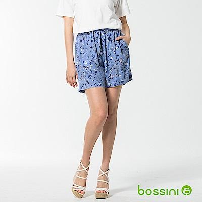 bossini女裝-輕柔圖案休閒短褲03藍
