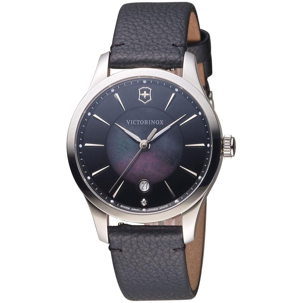 維氏 VICTORINOX ALLIANCE 腕錶系列 -黑/皮帶/35mm