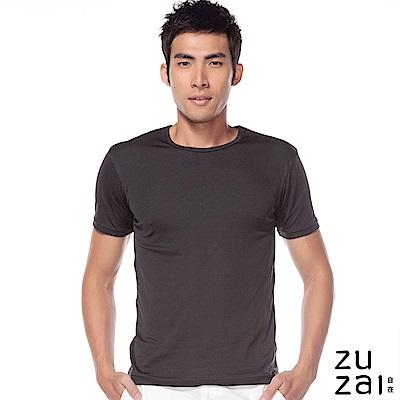 zuzai 自在發熱衣歸真系列男無重力暖搭短袖衣-黑色