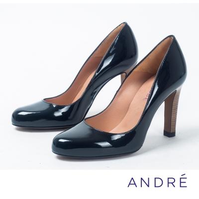 ANDRE-素雅微尖頭高跟鞋-沉穩黑