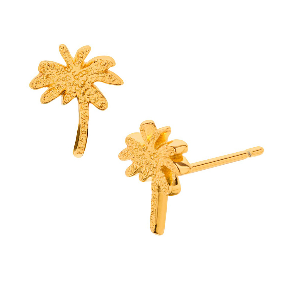 GORJANA Palm Tree Studs 加州棕梠樹 金色耳環
