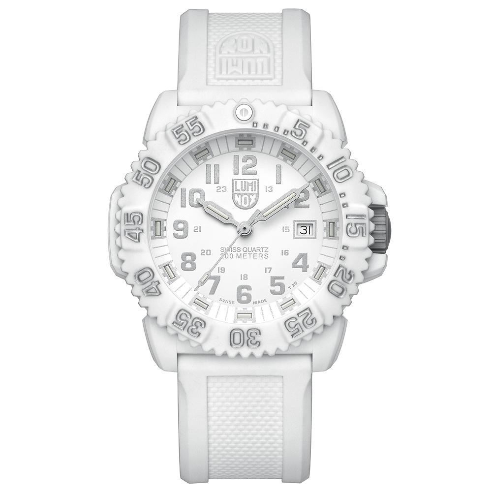 LUMINXO 海豹部隊指標系列經典腕錶-白/44mm