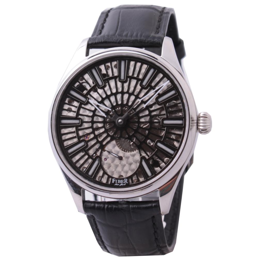 FIBER 法柏 黑旋風手上鍊機械腕錶-42mm