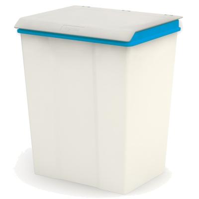 【創意達人】雪白大型掀蓋垃圾桶(2入)