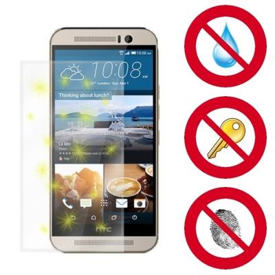 D&A HTC One M9 (5吋)電競專用玻璃奈米5H↗螢幕保護貼