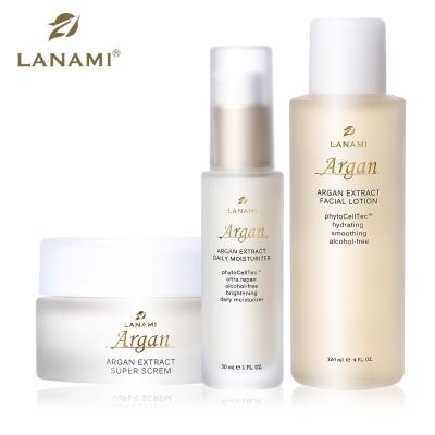 LANAMI ARGAN 經典明星商品組(緊緻水凝露+精華液+絲滑霜)