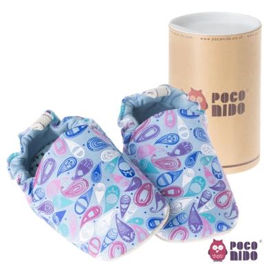 英國 POCONIDO 純手工柔軟嬰兒鞋 ( 佩斯利小花 )