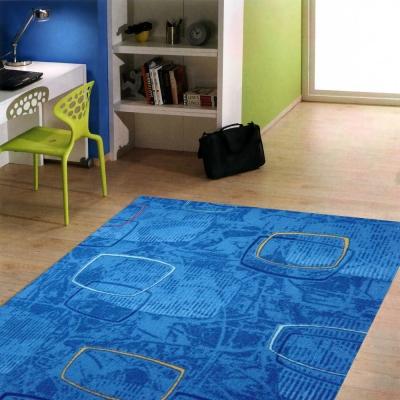 范登伯格 - 朝暘 進口地毯-藝術 (藍) (小款-100x150cm)