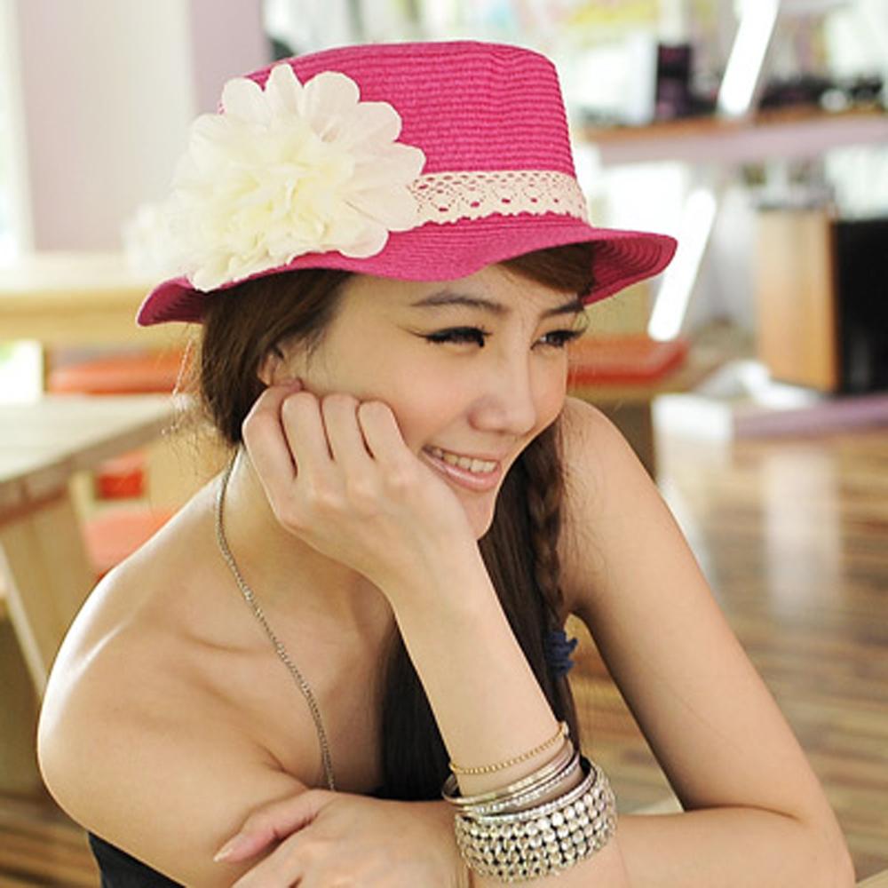 【Aimee Toff】花樣情懷素緻典雅遮陽帽(桃)