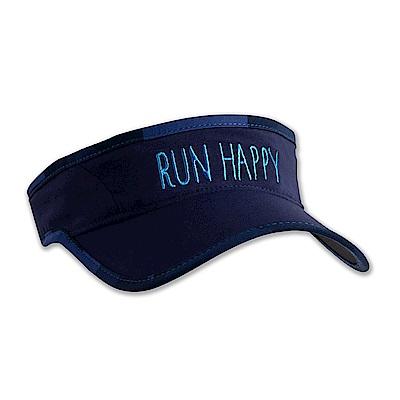 BROOKS Run Happy 中性慢跑遮陽帽 海軍藍 (280356466)