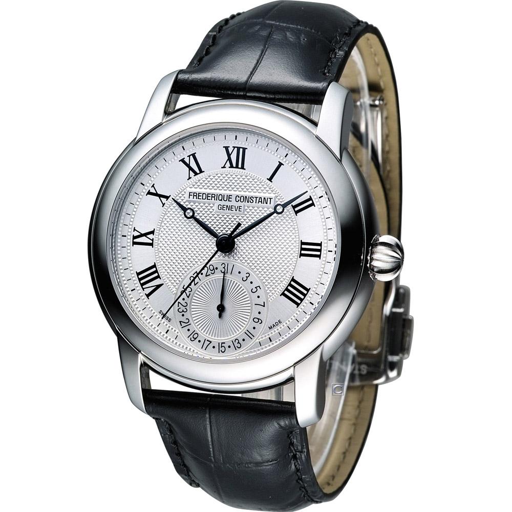 Constant 康斯登 經典羅馬紳士機械腕錶-銀白/42mm