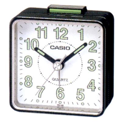 CASIO 桌上型指針鬧鐘(白面、黑面、銀殼)