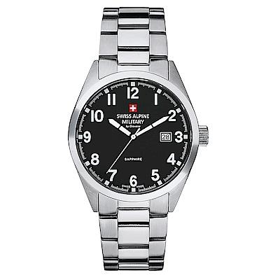 阿爾卑斯 S.A.M -獨家限定-指揮官系列-黑色錶盤/不鏽鋼鍊帶/41mm