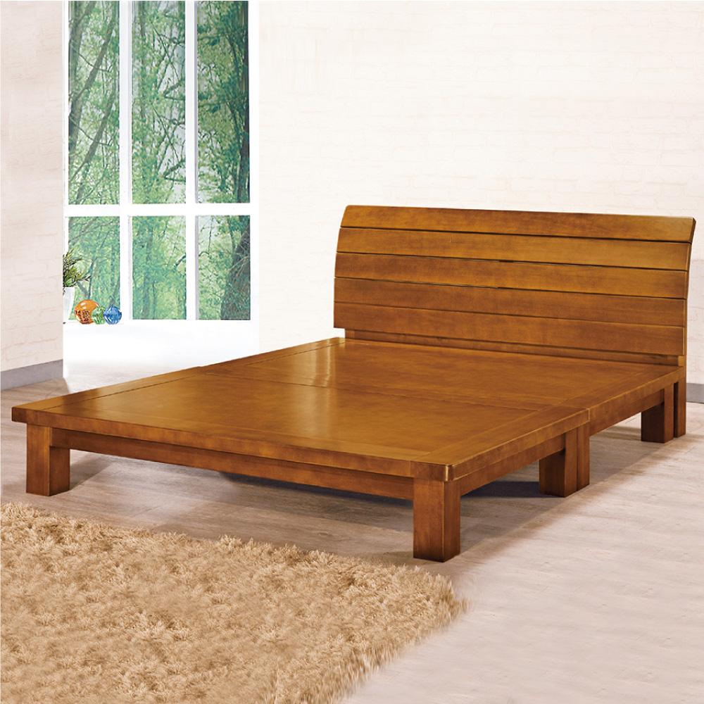 床架 雙人5尺 Emma艾瑪實木床架 AS